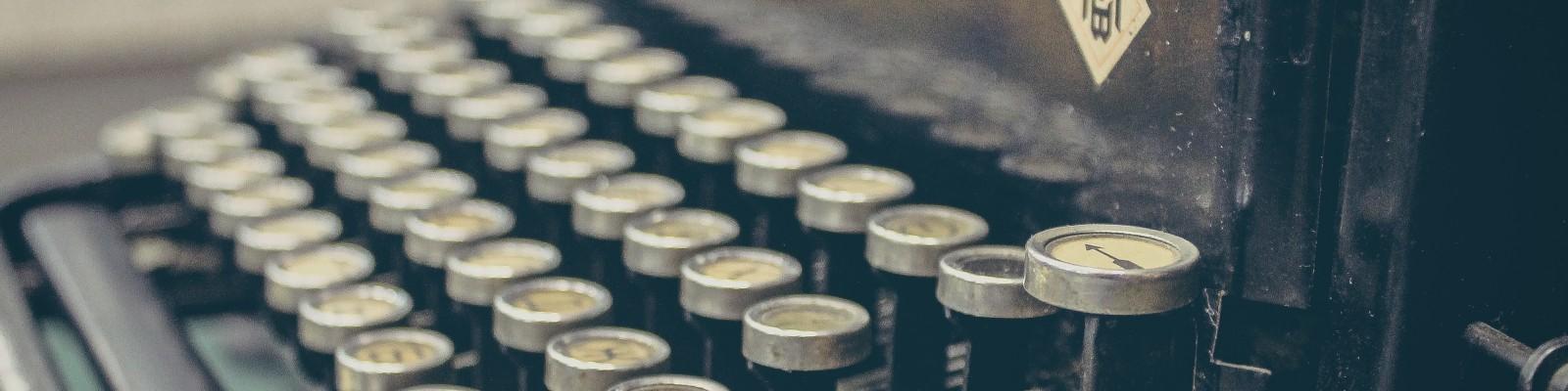 Image of a typewriter